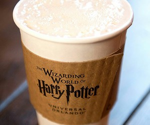 harry potter, coffee, and hogwarts image