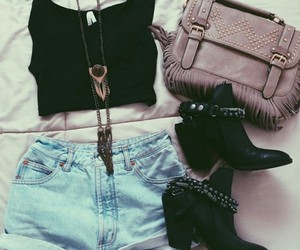fashion, bag, and boots image