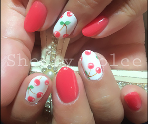 cherry, girly, and nails image