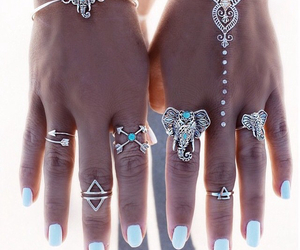 rings, nails, and bracelet image