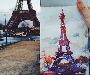 art, paris, and eiffel tower image