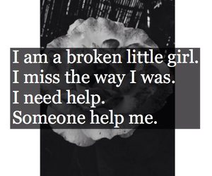 broken, girl, and lonely image