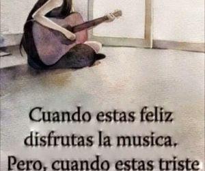 feliz, musica, and triste image