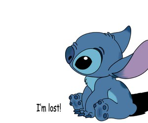 stitch, lost, and blue image