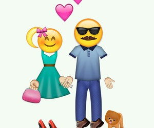 couple, emoji, and love image