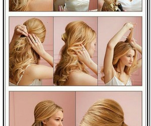 hairstyles, Prom, and hair updo image