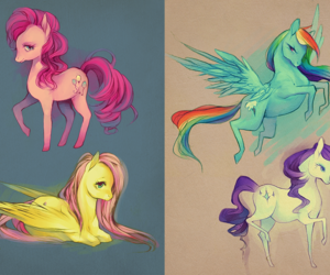 my little pony, pinkie pie, and fluttershy image