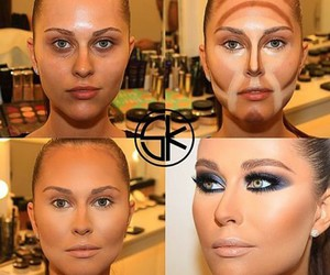 makeup, contour, and beauty image
