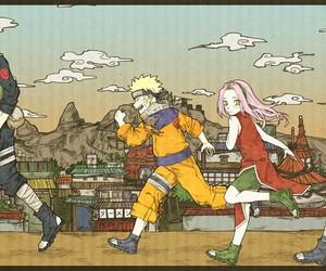 naruto, kakashi, and sakura image