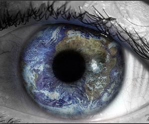 earth and eye image