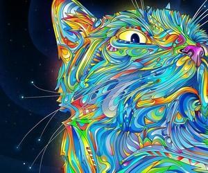 art, beautiful, and cat image