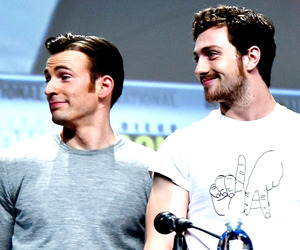 chris evans, aaron taylor johnson, and aaron taylor image