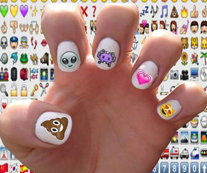 nail art, nails, and emoji image