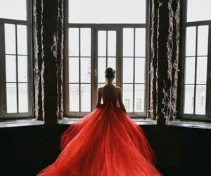 alone, fashion, and red image