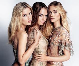 model, cara delevingne, and georgia may jagger image