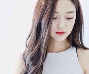 ulzzang, girl, and hair image