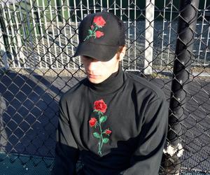 rose, black, and grunge image