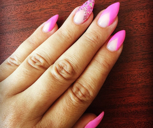 pink stiletto nails image