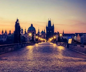 city, light, and prague image