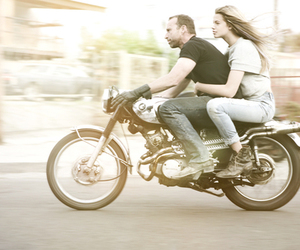 motorcycle, love, and photography image
