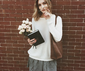 fashion, flowers, and indie image