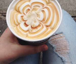 beauty, coffee, and flower image