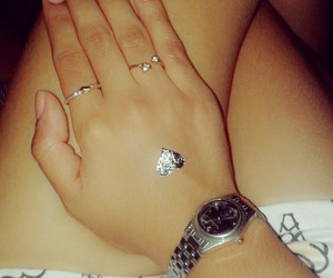 hand, heart, and ring image