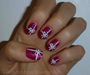 nails, bow, and christmas image