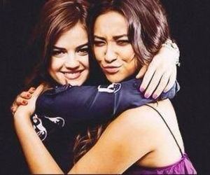 lucy hale, pll, and shay mitchell image