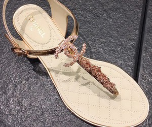 chanel, shoes, and sandals image