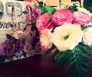 beauty, flowers, and vintage image