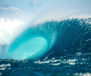 summer, surfing, and wave image