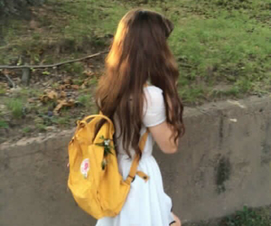 backpack, pale, and vintage image