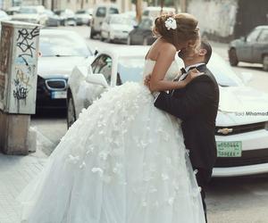 amazing, wedding dress, and love image