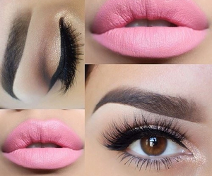 makeup, pink, and lips image