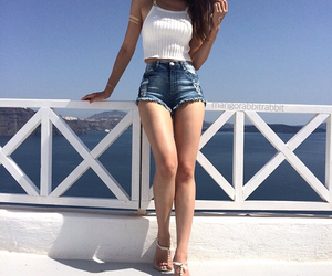 outfit, girl, and Greece image