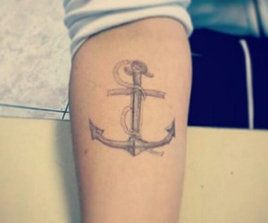 anchor, arm, and art image