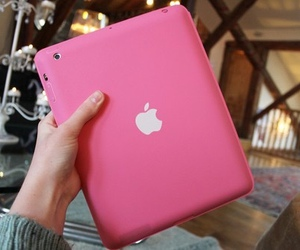 pink, ipad, and apple image