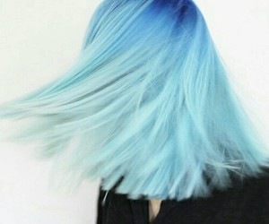 hair, blue, and blue hair image