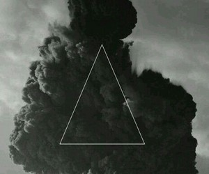 triangle, black, and smoke image