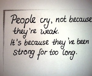 cry, strong, and people image