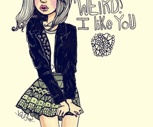 valfre, weird, and drawing image