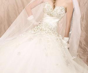 dress, glamorous, and cute image