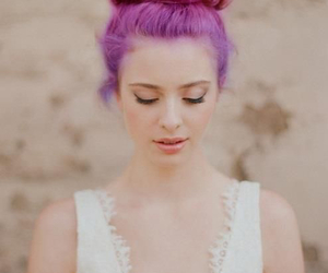 hair, purple, and magenta image