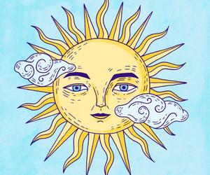 art, drawing, and sun image