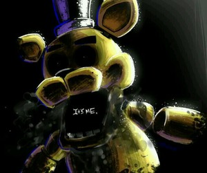 it's me, five nights at freddy's, and golden freddy image