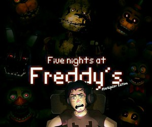 youtube, markiplier, and five nights at freddys image