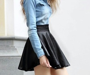 black, clothes, and skirt image
