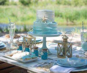 beach, favors, and wedding image
