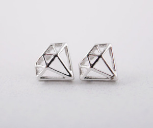 diamond, earrings, and jewelry image